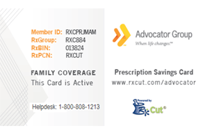RxCut prescription savings card